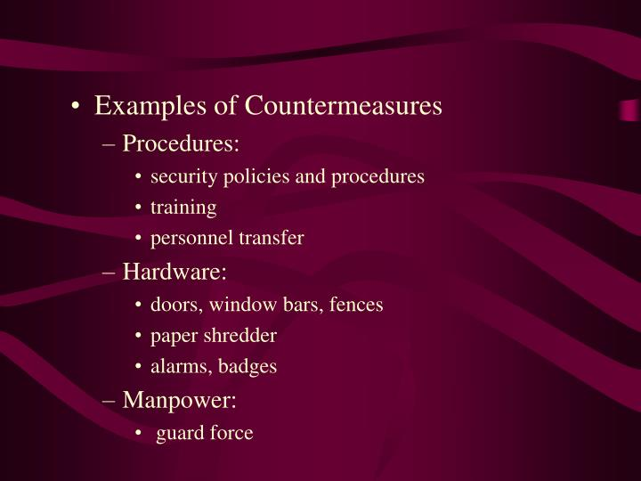 Examples of Countermeasures