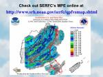 check out serfc s mpe online at