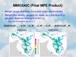 mmosaic final mpe product