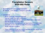 precipitation sensors wsr 88d radar