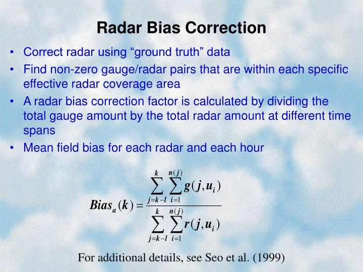 Radar Bias Correction