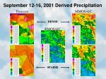 september 12 16 2001 derived precipitation