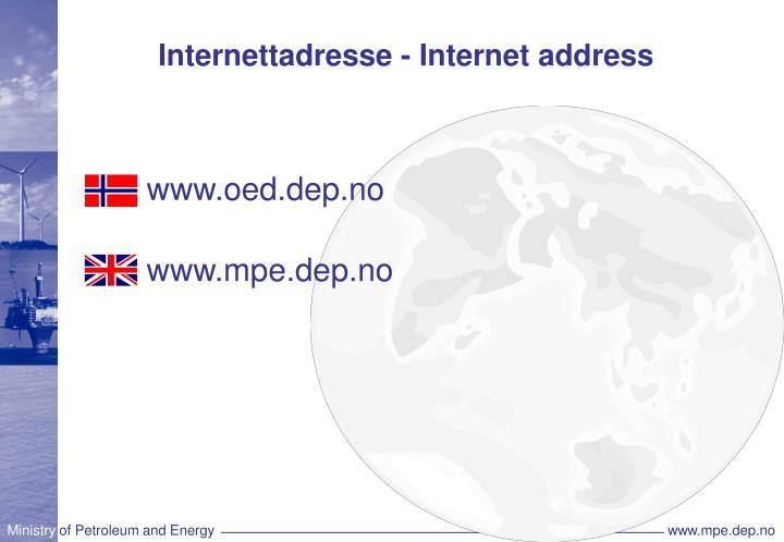 Internettadresse - Internet address