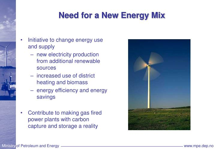 Need for a New Energy Mix