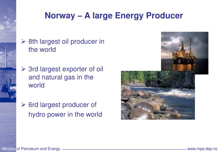 Norway a large energy producer