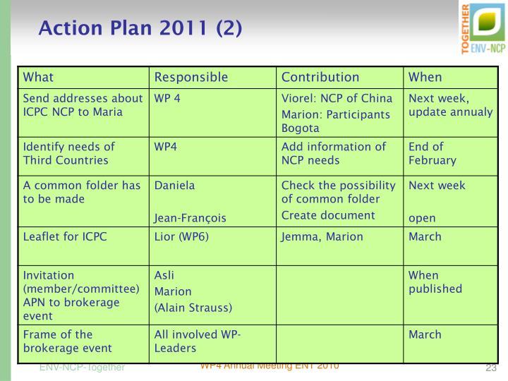 Action Plan 2011 (2)