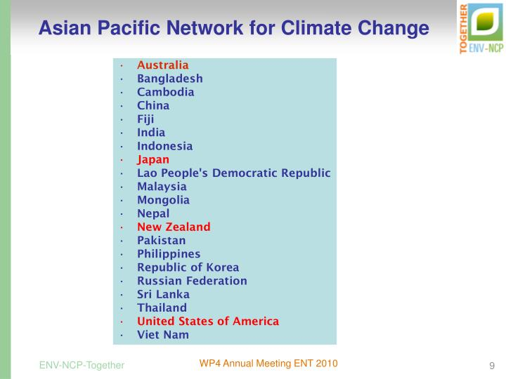 Asian Pacific Network for Climate Change
