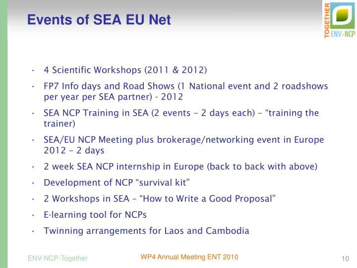 Events of SEA EU Net