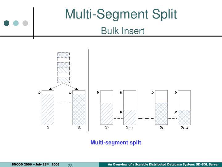 Multi-Segment Split