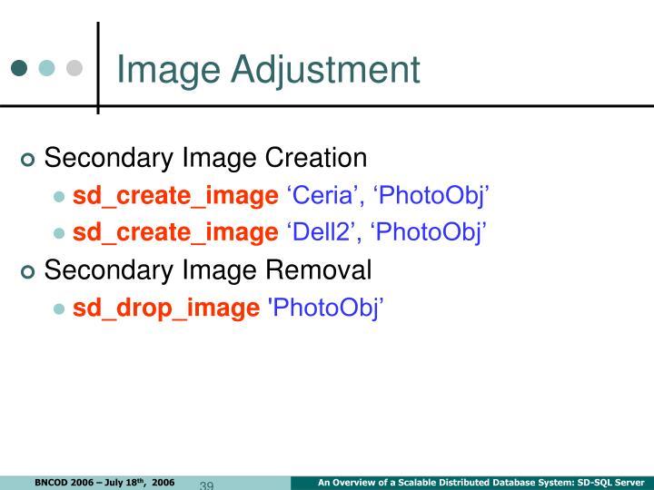 Image Adjustment