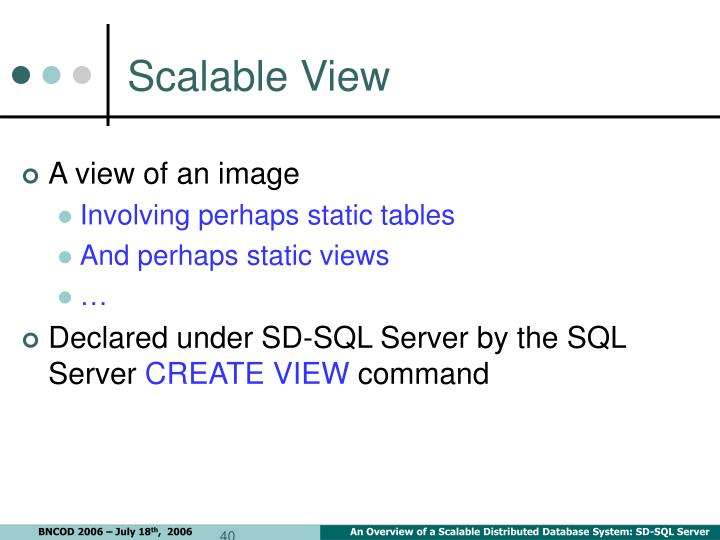 Scalable View