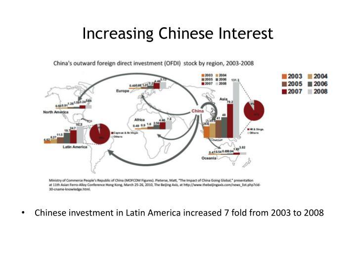 Increasing Chinese Interest