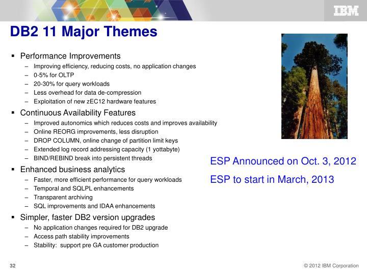 DB2 11 Major Themes