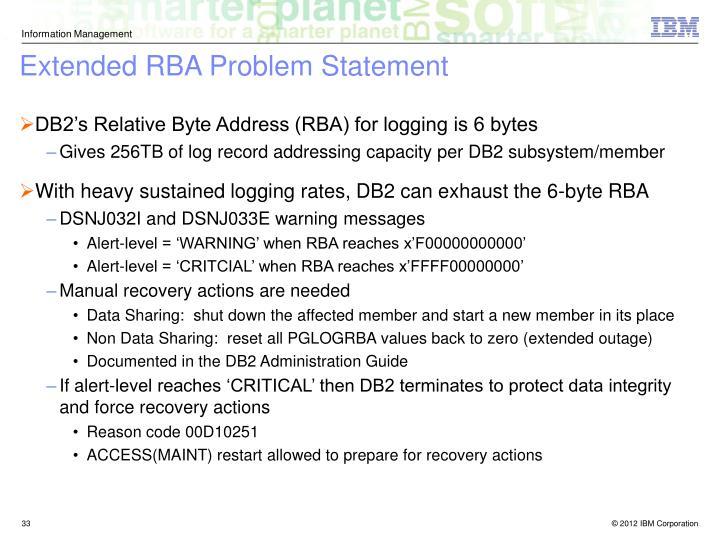 Extended RBA Problem Statement