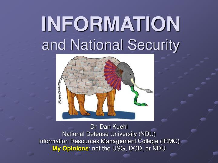 information and national security