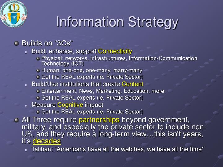 Information Strategy