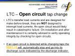 ltc open circuit tap change