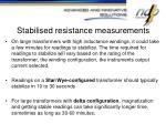 stabilised resistance measurements