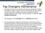 tap changers maintenance