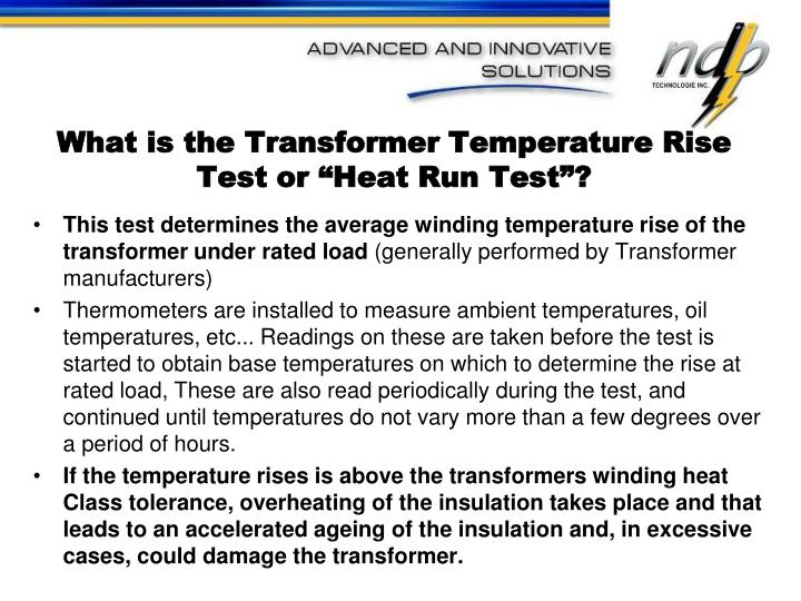 "What is the Transformer Temperature Rise Test or ""Heat Run Test""?"