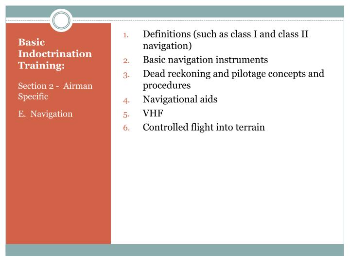 Definitions (such as class I and class II navigation)