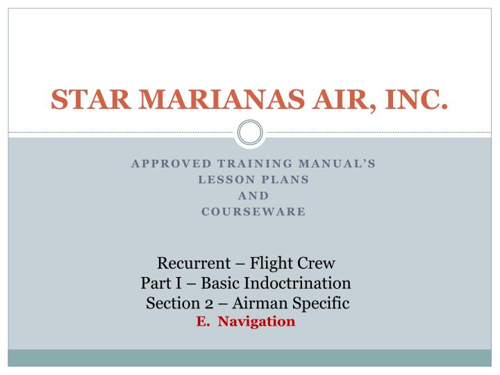 Star marianas air inc