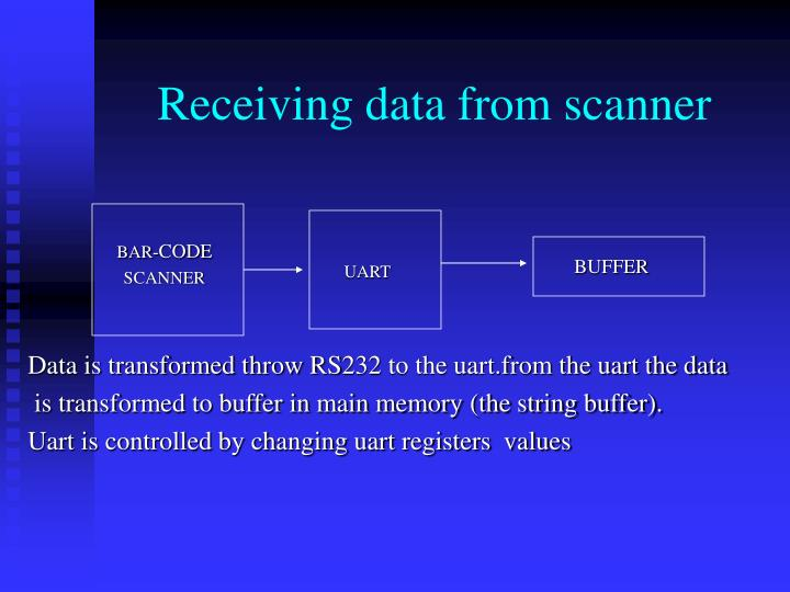 Receiving data from scanner