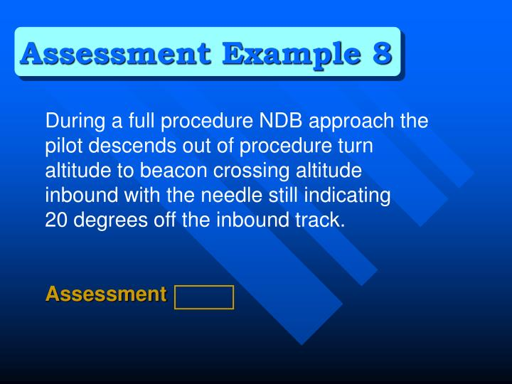 Assessment Example 8