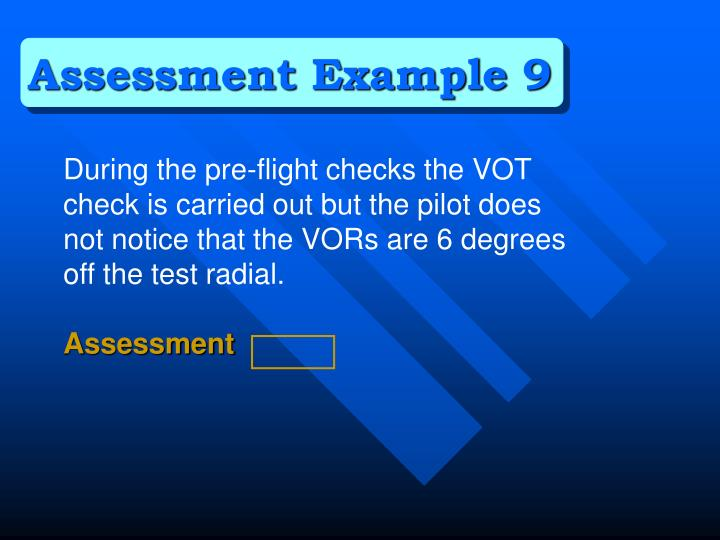 Assessment Example 9