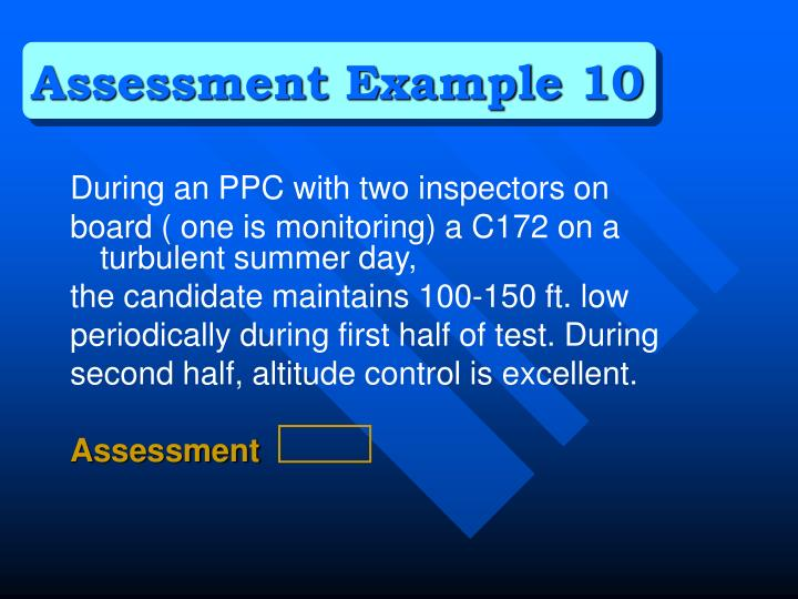 Assessment Example 10