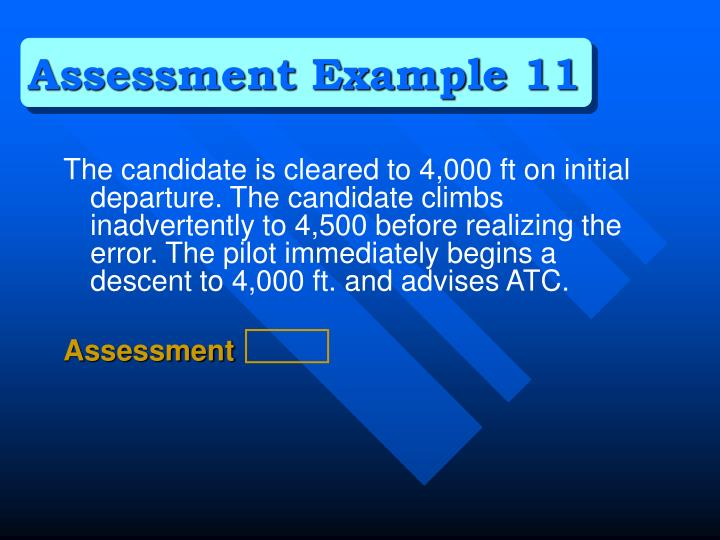 Assessment Example 11