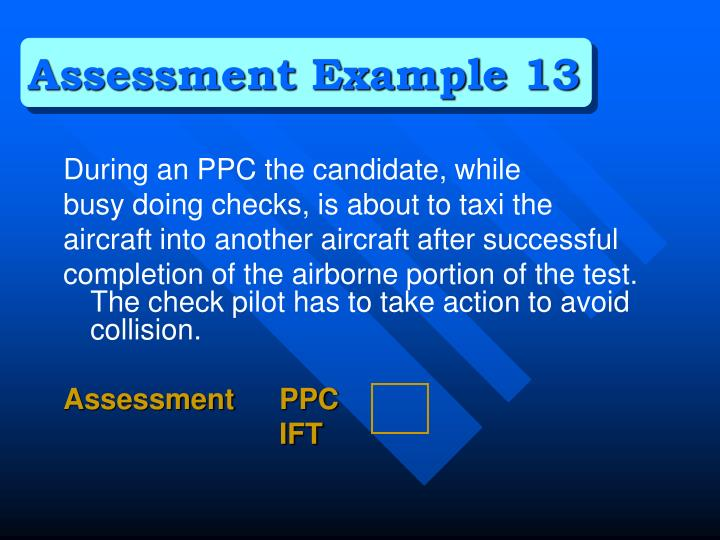 Assessment Example 13