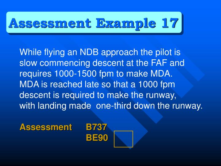 Assessment Example 17