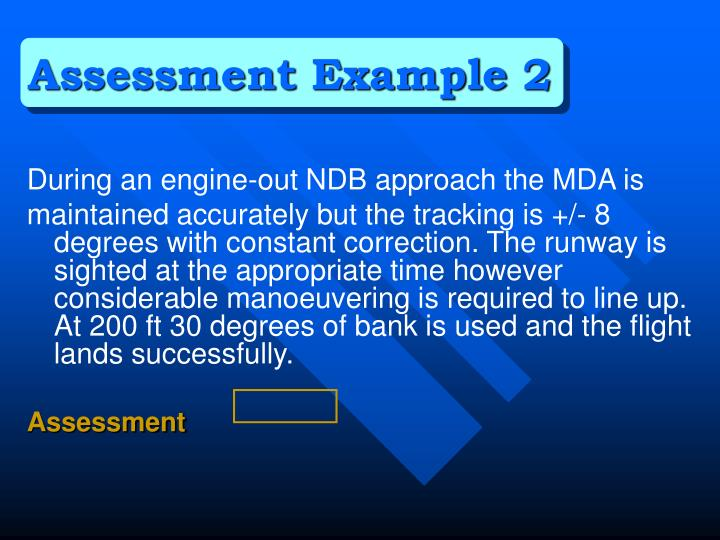 Assessment Example 2