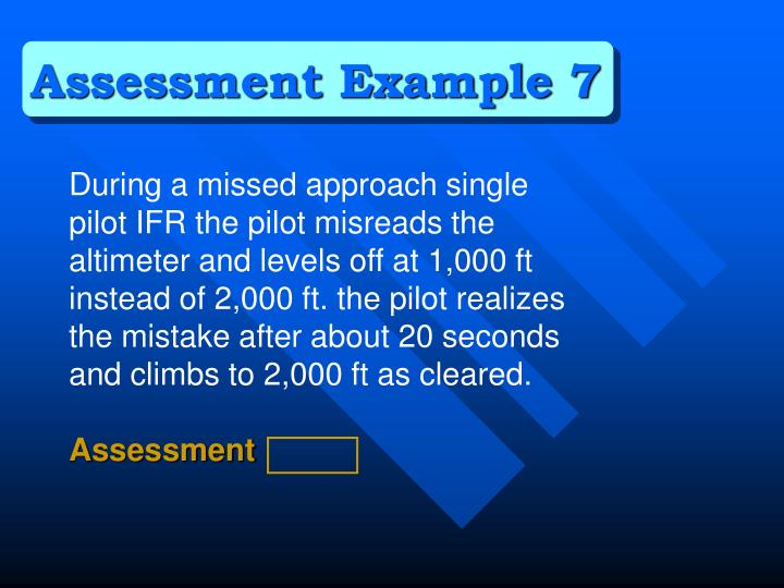 Assessment Example 7