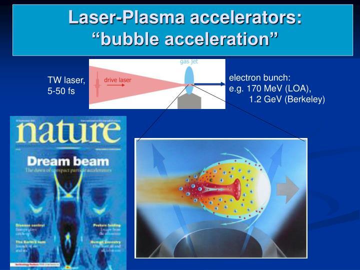 Laser-Plasma accelerators: