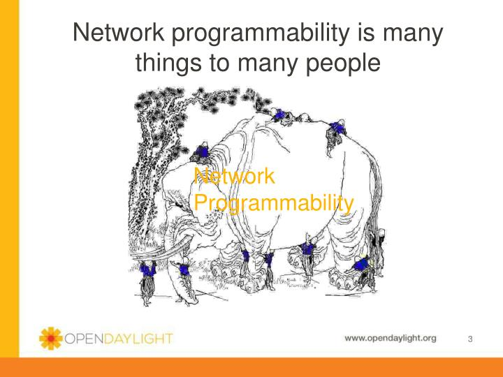 Network programmability is many things to many people
