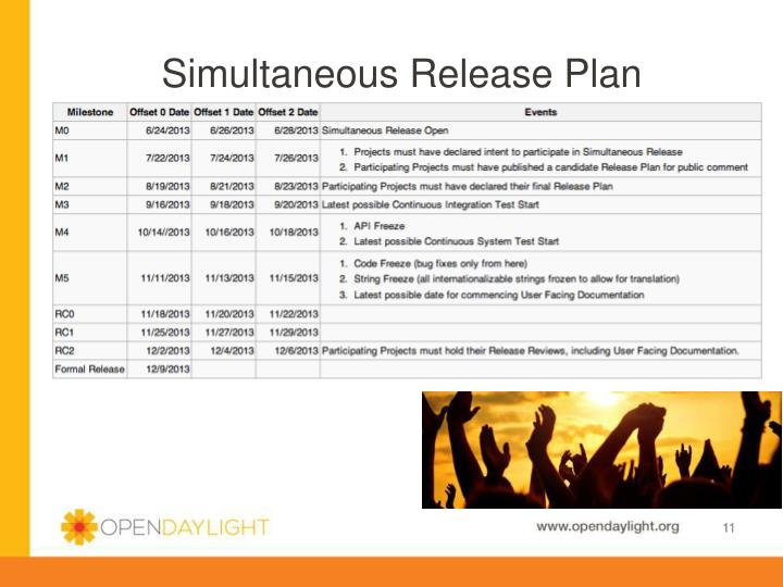 Simultaneous Release Plan