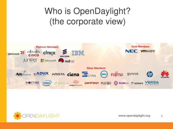 Who is OpenDaylight?