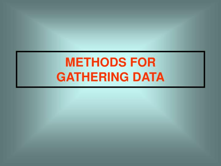 METHODS FOR