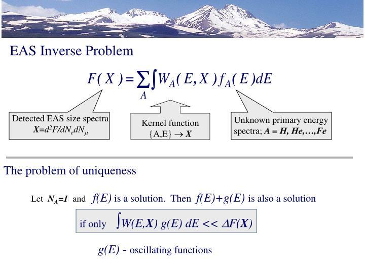 EAS Inverse Problem