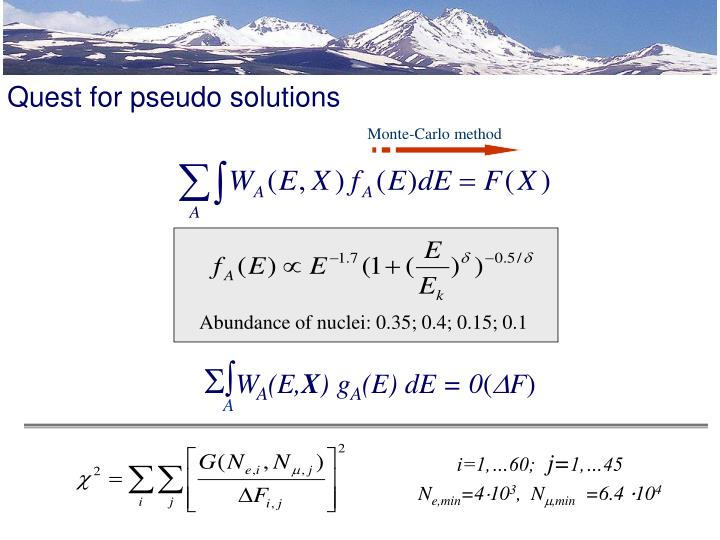 Quest for pseudo solutions