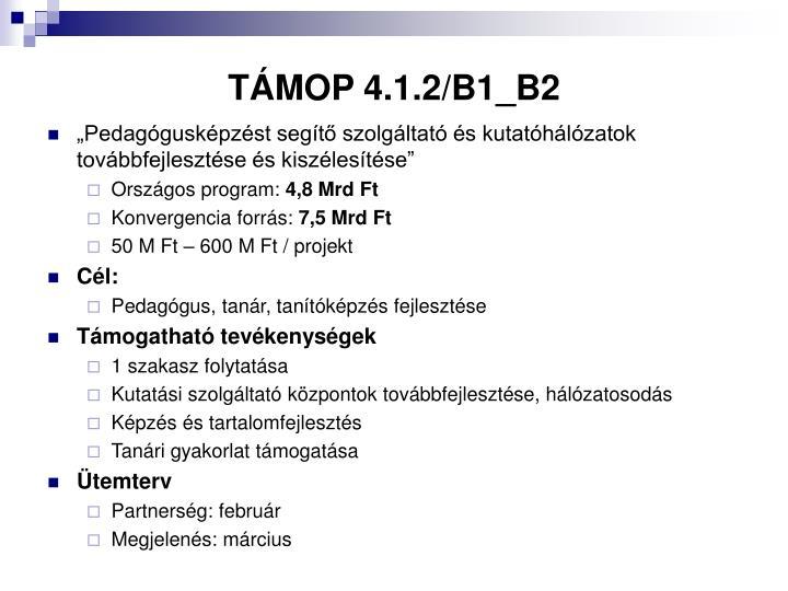 TÁMOP 4.1.2/B1_B2