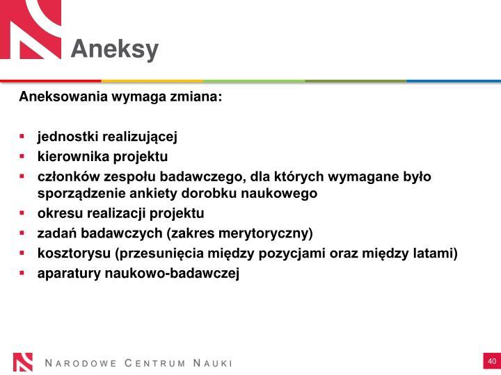 Aneksy
