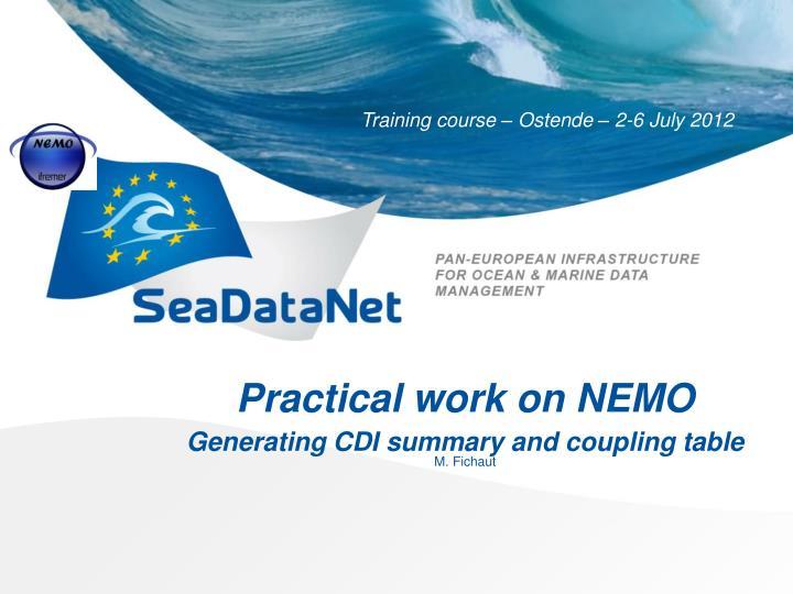 Practical work on NEMO