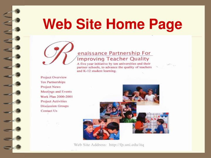 Web Site Home Page
