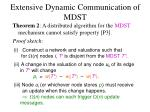 extensive dynamic communication of mdst