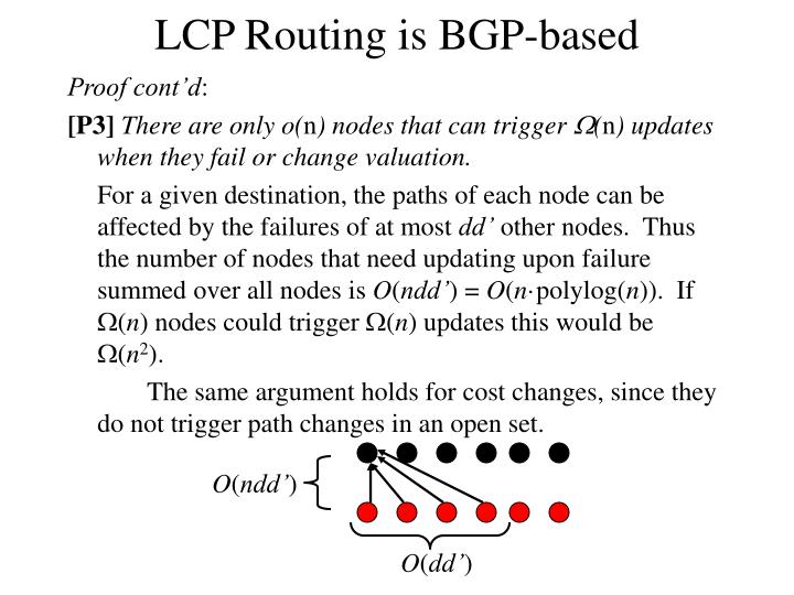 LCP Routing is BGP-based