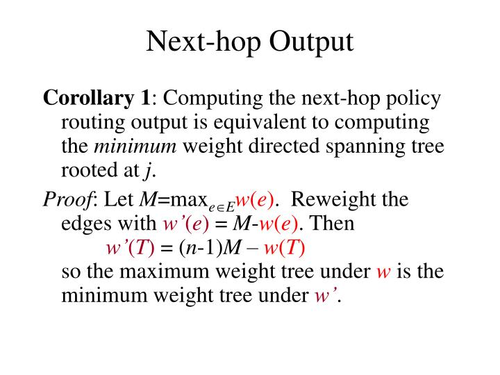 Next-hop Output
