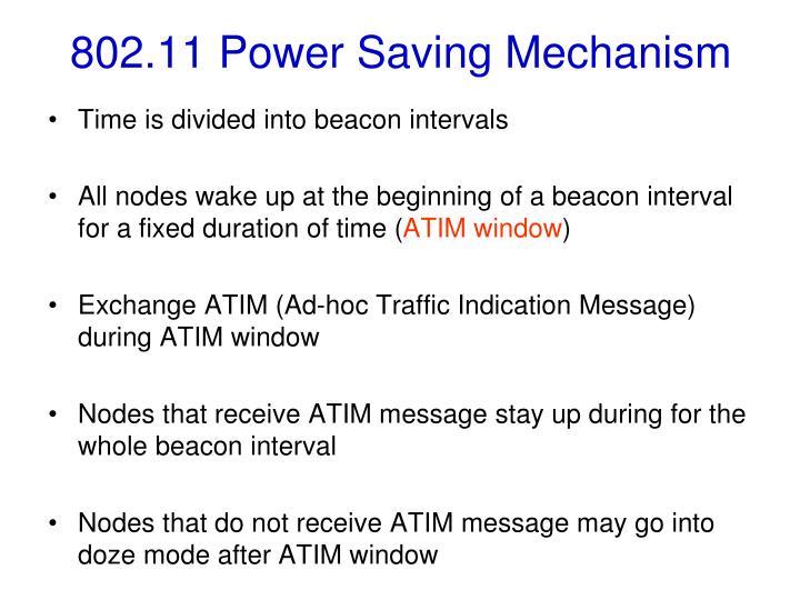 802.11 Power Saving Mechanism